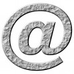 3D Stone Email Symbol — Stock Photo