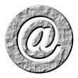 3D Stone Email Symbol — Stock Photo