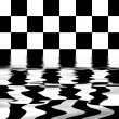 Flooded chess board — Stock Photo #1399614