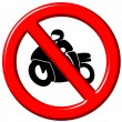 No motorbikes 3d sign — Stock Photo