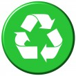 Stock Photo: Recycle Button