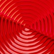 Red Radial Design - Stock Photo