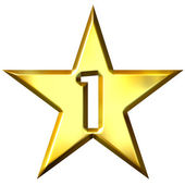 Number 1 Star — Stock Photo