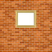 Frame on brickwall — Stock Photo
