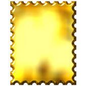 3D Golden Stamp — Stock Photo