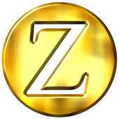 3D Golden Letter Z — Stock Photo