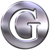 3D Silver Letter G — Stock Photo