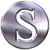 3D Silver Letter S — Stock Photo