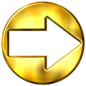 3D Golden Framed Arrow — Stock Photo