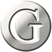 3D Steel Letter G — Stock Photo