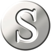 3D Steel Letter S — Stock Photo
