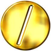 3D Golden Framed Division Symbol — Stock Photo