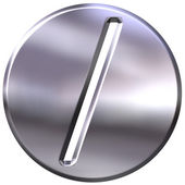 3D Silver Framed Division Symbol — Stock Photo