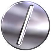 3D Silver Framed Division Symbol — Stock Photo
