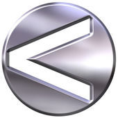 3D Silver Framed Inequality Symbol — Stock Photo