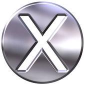 3D Silver Framed Multiplication Symbol — Stock Photo