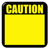 3D Caution Sign — Stock Photo