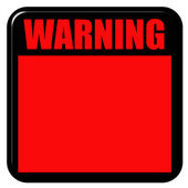 3D Warning Sign — Stock Photo