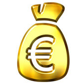 Sack full of Euros — Stock Photo