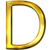3D Golden Letter D — Stock Photo