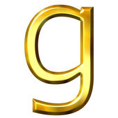 3D Golden Letter g — Stock Photo