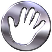 3d mano de plata enmarcado impresión — Foto de Stock
