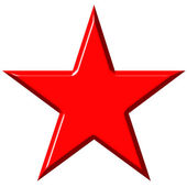 3D Cummunist Red Star — Stock Photo