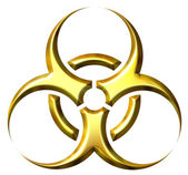 3D Golden Biohazard Symbol — Stock Photo