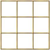 3D Golden Grid — Stock Photo