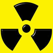 3D Radioactive Sign — Stock Photo