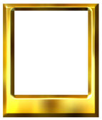 3D Golden Photo Frame — Stock Photo