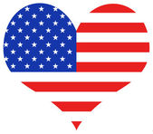 USA Heart — Stock Photo