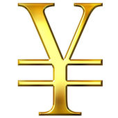 3D Golden Yen Symbol — Stock Photo