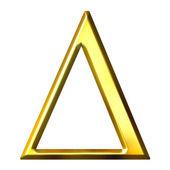3D Golden Greek Letter Delta — Stock Photo
