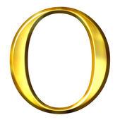 3D Golden Greek Letter Omikron — Stock Photo