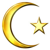 3D Golden Islamic Symbol — Stock Photo