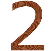 Wooden Number 2 — Stock Photo
