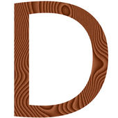 Wooden Letter D — Stock Photo