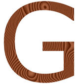 Wooden Letter G — Stock Photo