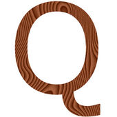 Wooden Letter Q — Stock Photo