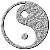 3D Stone Tao Symbol — Stock Photo