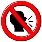 Do Not Speak 3d sign — Stock Photo