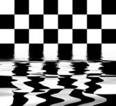 Flooded chess board — Stock Photo
