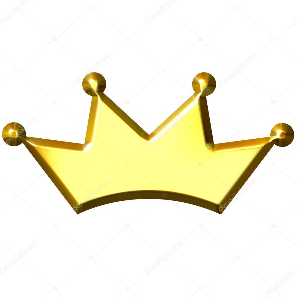 3d golden crown isolated in white — Stock Photo #1394517