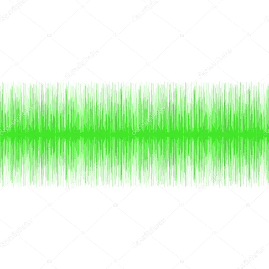 Green audio wave isolated in white — Stock Photo #1394535