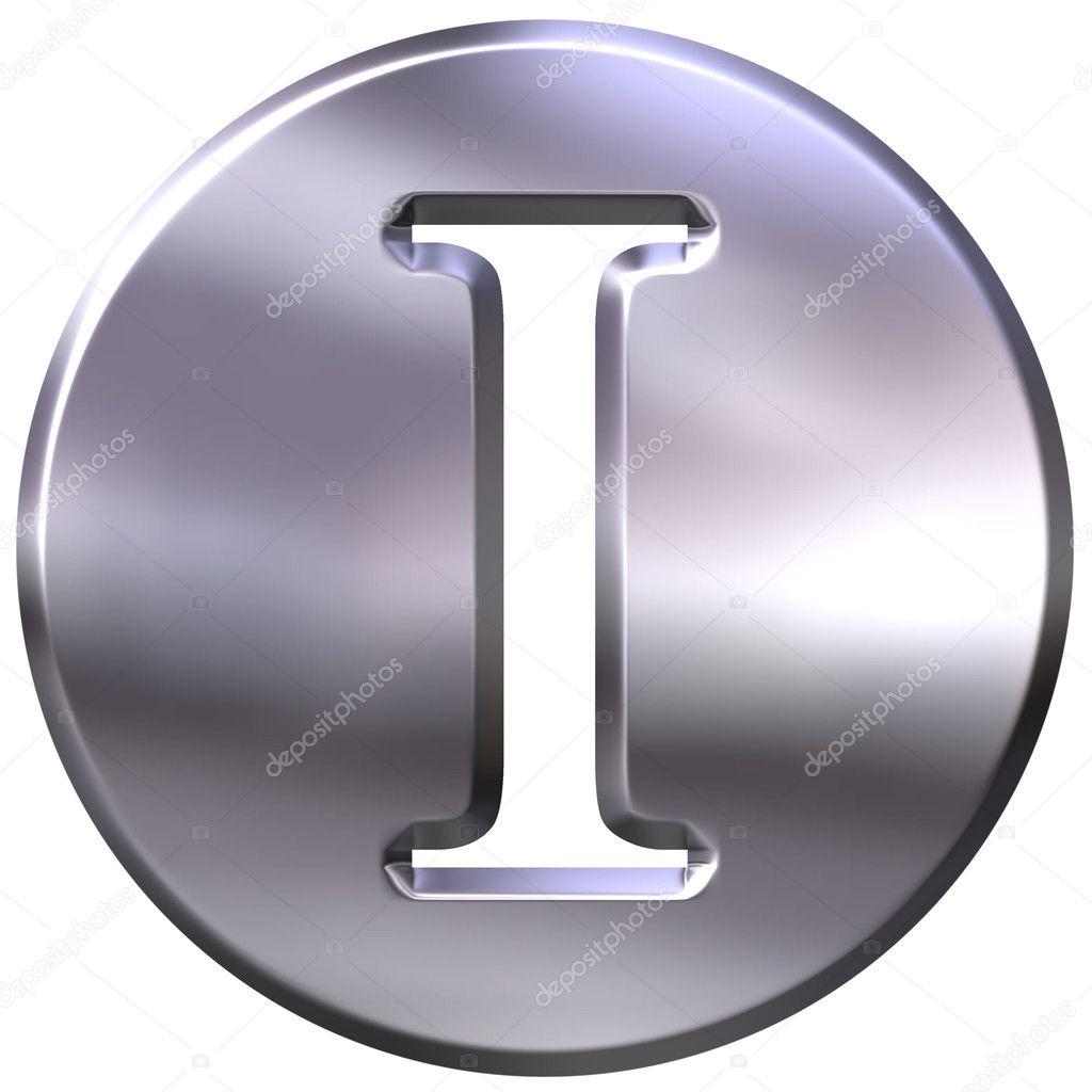 Silver Letter I: Stock Photo © Georgios #1394767