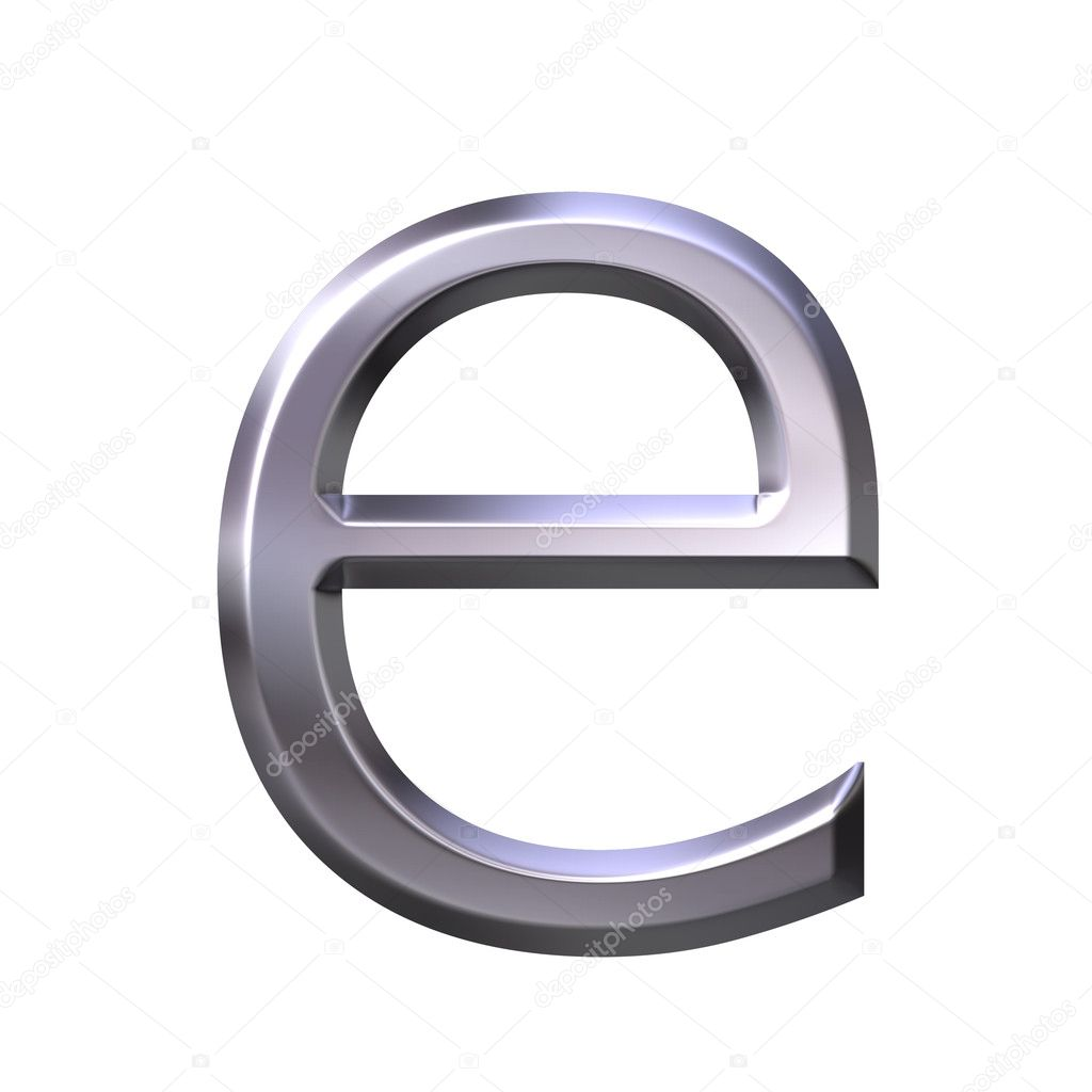 Silver Letter E