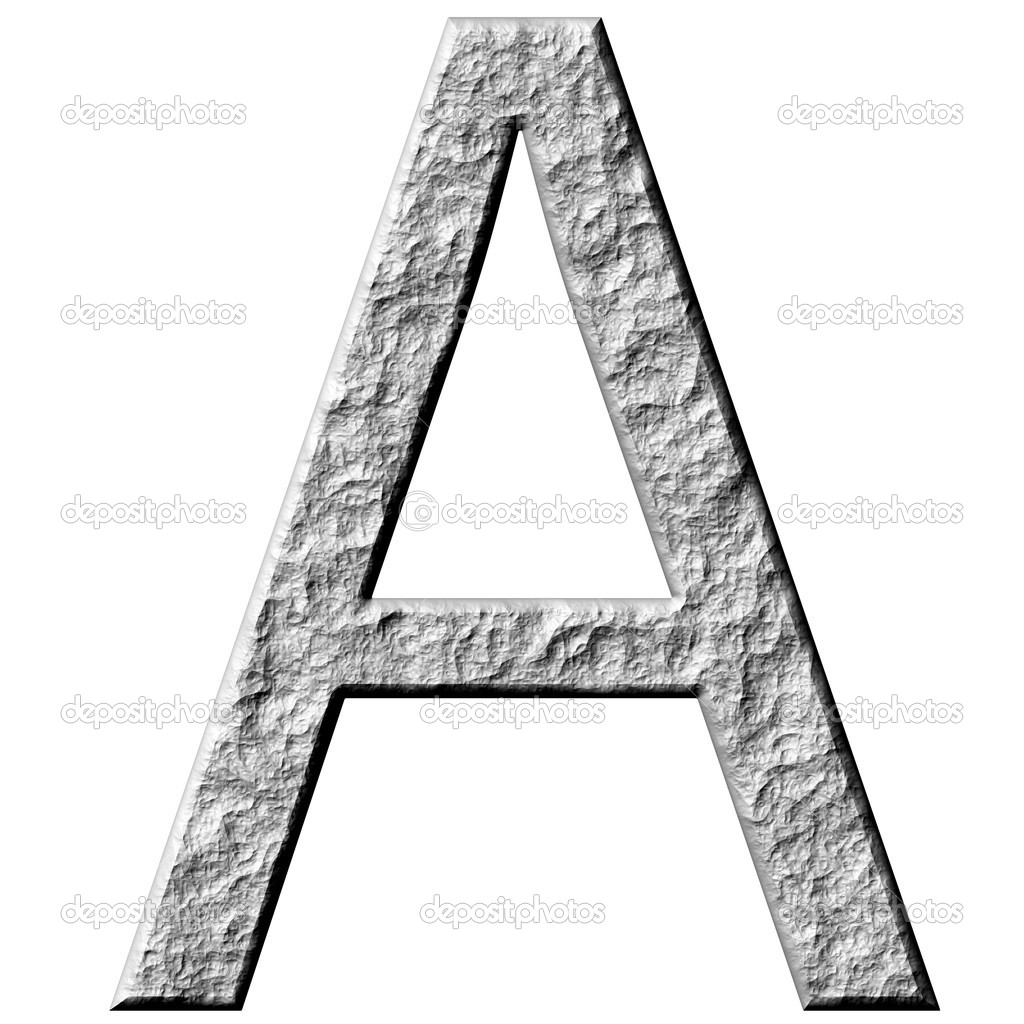 Stein Buchstaben