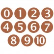 Wooden Framed Numbers - Stock Photo