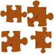 Wooden Puzzle Pieces — Stock Photo